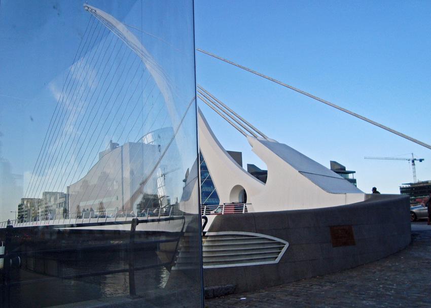dublin, 23. mai, Samuel Beckett Bridge, Calatrava